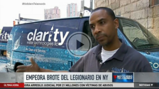 NYC Cooling Tower Disinfection Expert Rey Noyola speaks with Telemundo's Isolda Peguero