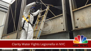 """NBC News' Natalie Pasquarella asks the Legionella Prevention Experts of Clarity Water Technologies: """"Why is legionella coming back after a cleaning and disinfecting a cooling tower in NY?"""""""