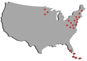 Map of Water Treatment Companies