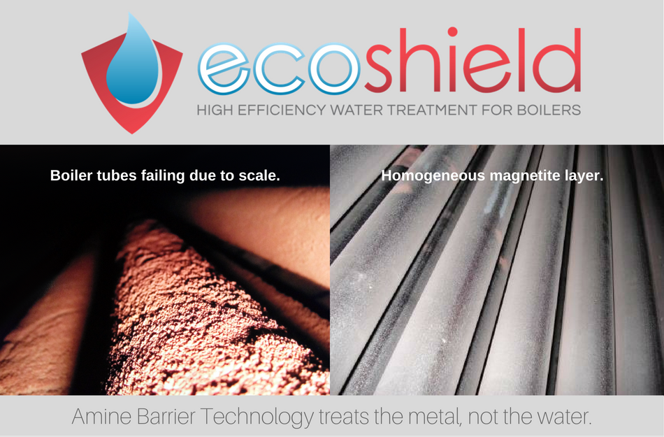 EcoShield treats the metal, not the water.