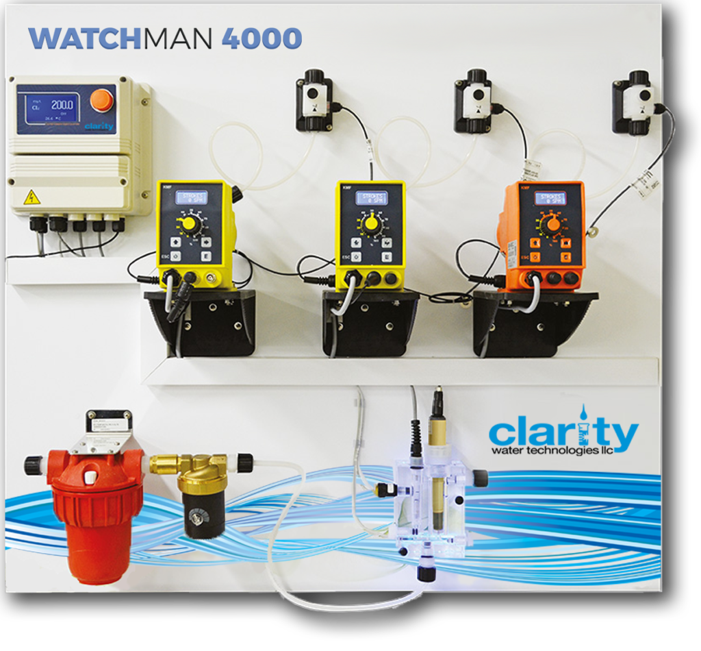 A picture of Clarity's WATCHMAN controller system, which minimizes the manual tasks associated with running and operating your system's program.