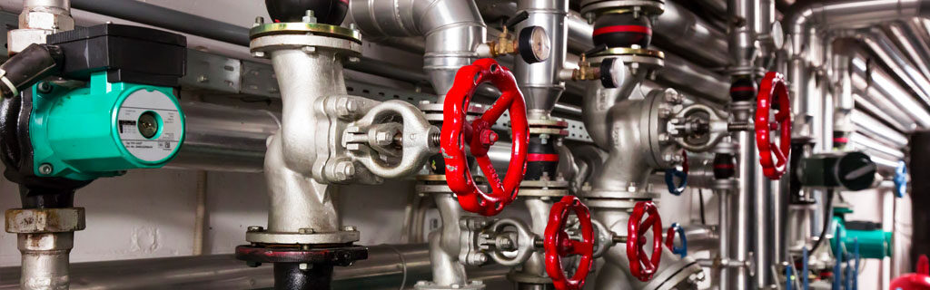 Closed loop water system with red valves