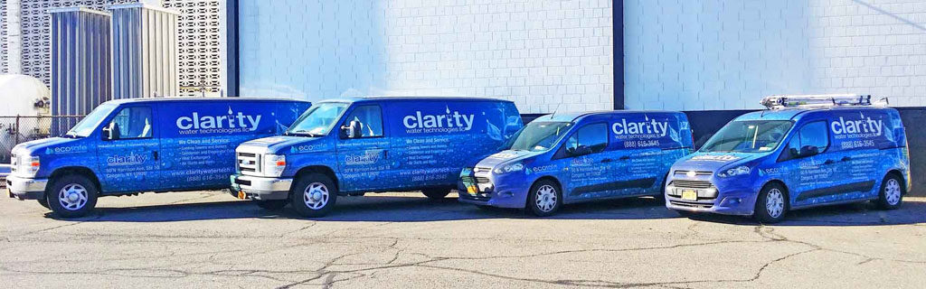 Clarity service vans used to perform HVAC cleaning and maintenance services